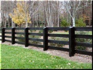 Custom Residential Split Rail Fence